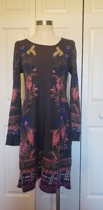 Anthropologie Knitted & Knotted long sleeve dress